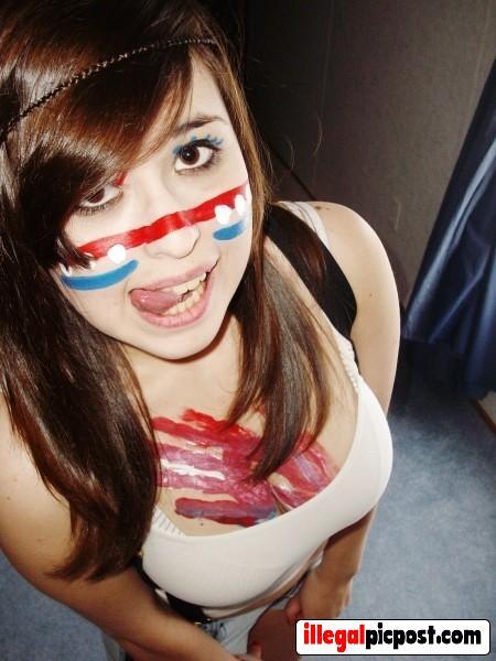 Meisje is klaar voor de wedstrijd van het Nederland
